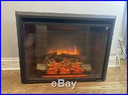 PuraFlame 30-inch Western Electric Fireplace Insert with Remote Control