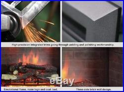 PuraFlame 33 Western Electric Fireplace Insert Remote Control, 750/1500W, Black