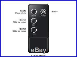PuraFlame 33 Western Electric Fireplace Insert Remote Control, 750/1500W, Black