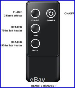 PuraFlame 33' Western Electric Fireplace Insert With Remote Control, 750/1500W