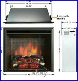 PuraFlame Western Electric Fireplace Insert with Fire Crackling Sound 26