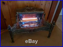 RARE WORKING electric heater Marks Mfg Co Chicago, cast iron, fireplace insert