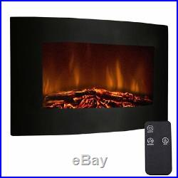 RV Fireplace Insert With Remote XL Large 35 L Cozy Glass View Log Flame Heater
