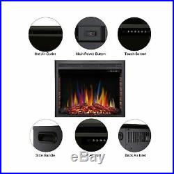 RW Flame Electric Fireplace Insert Recessed Electric Stove Heater A 36 1500W