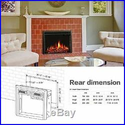 R. W. FLAME 33 Electric Fireplace Insert, Freestanding Recessed Electric Stove H