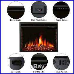 R. W. FLAME 36 Electric Fireplace Insert, Freestanding Recessed Electric Stove
