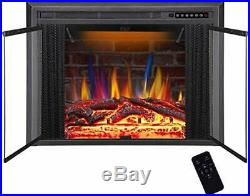 R. W. FLAME 36 Electric Fireplace Insert Traditional Antiqued Build in Recesse