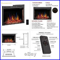R. W. FLAME 39 Electric Fireplace Insert, Freestanding Recessed Electric Stove Hea