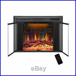 R. W. FLAME 39 Electric Fireplace Insert, Traditional Antiqued Build in Recess