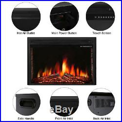 R. W. FLAME 39 inch Electric Fireplace Insert, Stove with Remote, Timer 750W-1500W