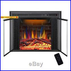 R. W. Flame 36 Electric Fireplace Insert, Traditional Antiqued Build In Recessed