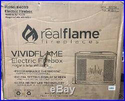 RealFlame Electric Firebox Insert Remote Control Fireplace 1400 Watt