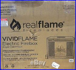 Real Flame Electric Firebox Insert Unmatched LED Flame Realism and Brightness