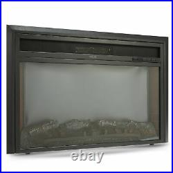 Recessed Electric Heater Fireplace Insert w Remote Control Thermostat 32 1500W