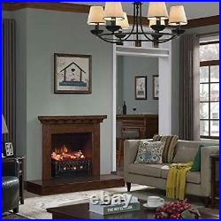 Regal Flame 20 Inch Electric Fireplace Log Realistic Ember Bed Insert with He