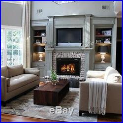 Regal Flame 23 Flat Ventless Heater Electric Fireplace Insert, Black Frame