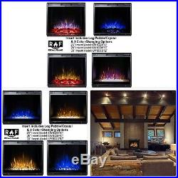 Regal Flame 23 Flat Ventless Heater Electric Fireplace Insert, Black Frame 3