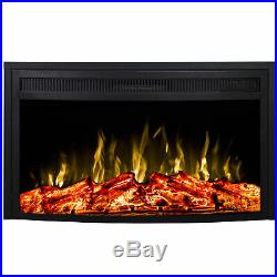 Regal Flame 26 Inch Curved Ventless Heater Electric Fireplace Insert