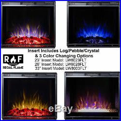 Regal Flame 33 Flat Ventless Heater Electric Fireplace Insert 3 Color