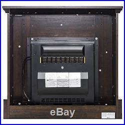 Retro Wooden Electric Fireplace FIREBIRD 32 Freestanding Insert Brown Wooden