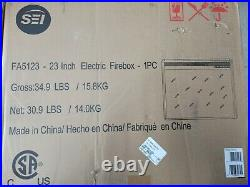 SEI 23 wide electric fireplace plate with remote control FA512300TX (insert only)
