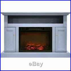 Sorrento Electric Fireplace withLog Insert and 47 Entertainment Stand