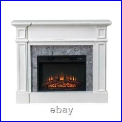 Sunjoy 46 Indoor Electric Fireplace Mantel with 23 Insert