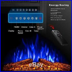 Sunlei 36 Electric Fireplace Insert Multi Color Timer Touch Screen Remote NEW