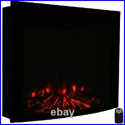 Sunnydaze Contemporary Comfort Indoor Electric Fireplace Insert -28 Inches