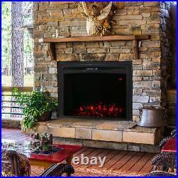 Sunnydaze Cozy Warmth Indoor Electric Fireplace Insert 28 Inches