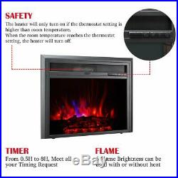 TAGI 30'' Embedded Electric Fireplace Insert Recessed Electric Stove Heater w