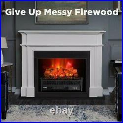 TURBRO Electric Log Set Eternal Flame EF23-LG 23 Remote Control Fireplace