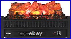 TURBRO Eternal Flame EF23-LG Electric Fireplace Logs, 23 Remote Control Firepla