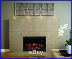Traditional Built-in Electric Fireplace Insert 36 4400 BTU Heater Flame Effect