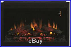 Traditional Built in Electric Fireplace Insert 36 Adjustable Flame Brightness