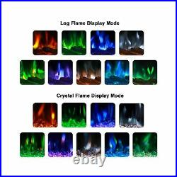 U-MAX 36 Recessed Wall Mounted Electric Fireplace Insert, 9 Colors Flame/Tou