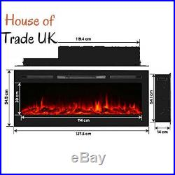 Unionline 127cm in-Wall Recessed Mounted Electric Fireplace Insert with 127CM