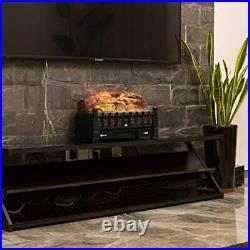 VIVOHOME 110V Electric Fireplace Insert Log Quartz Realistic Ember Bed Fan Heate