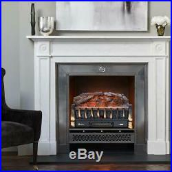 VIVOHOME 110V Electric Insert Log Fireplace Heater 3D Flame Ember Bed with Remote