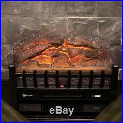 VIVOHOME 110V Electric Remote Insert Log Fireplace Heater 3D Flame Stove Black