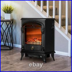 VIVOHOME 1400W 20inch Electric Fireplace Insert Stove Heater 3D Log Flame Effect