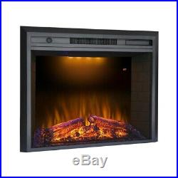 Valuxhome 36 Electric Fireplace Insert Heater Remote +Fire Sound