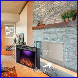 Valuxhome Electric Fireplace, 33 Inches Electric Fireplace Insert, Fireplace Hea