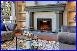 Valuxhome Houselux 30 750With1500W, Embedded Fireplace Electric Insert Heater