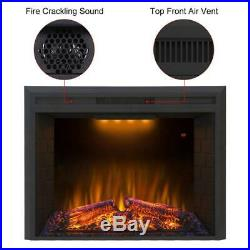 Valuxhome Houselux 30 Inches Fireplace Insert Electric 30L, Black