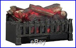 Ventless Fireplace Heater Electric Log Fake Faux Insert Realistic Wood Set New