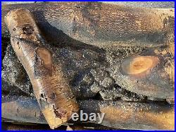 Vintage Electric Realistic Lighted Rotating Fire Burch Wood Log Fireplace Insert