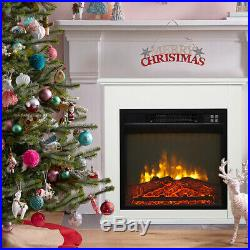 Wall Electric Fireplace Insert Flame Remote Control Warm heater Remote Control