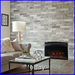 Wall Insert 1400W Electric Fireplace Heat withRemote LED Flame Timer Heater