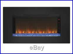Wall Mount Electric Fireplace Heater Insert 36 Infrared 5200 BTU Remote Control